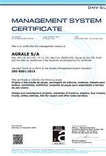 Certificado Internacional de la Garantia de la Calidad: Certificado ISO9001 Agrale S.A